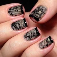 Дизайн ногтей колготоки