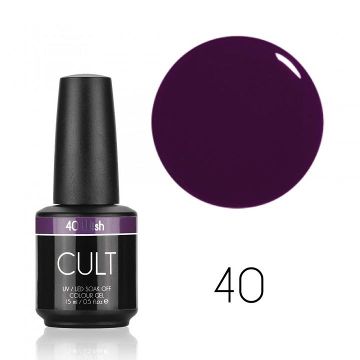Фиолетовый гель лак для ногтей Cult №40 Wish
