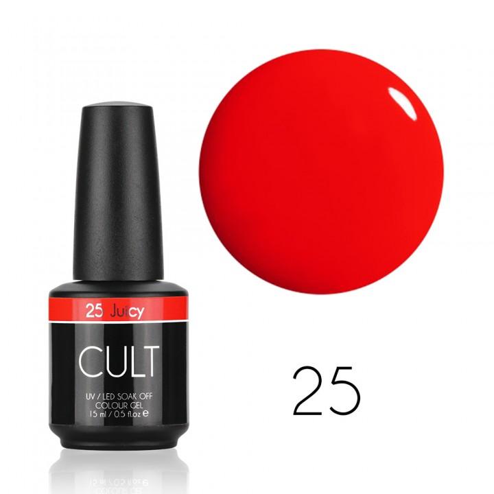 Красный алый гель лак для ногтей Cult №25 Juicy