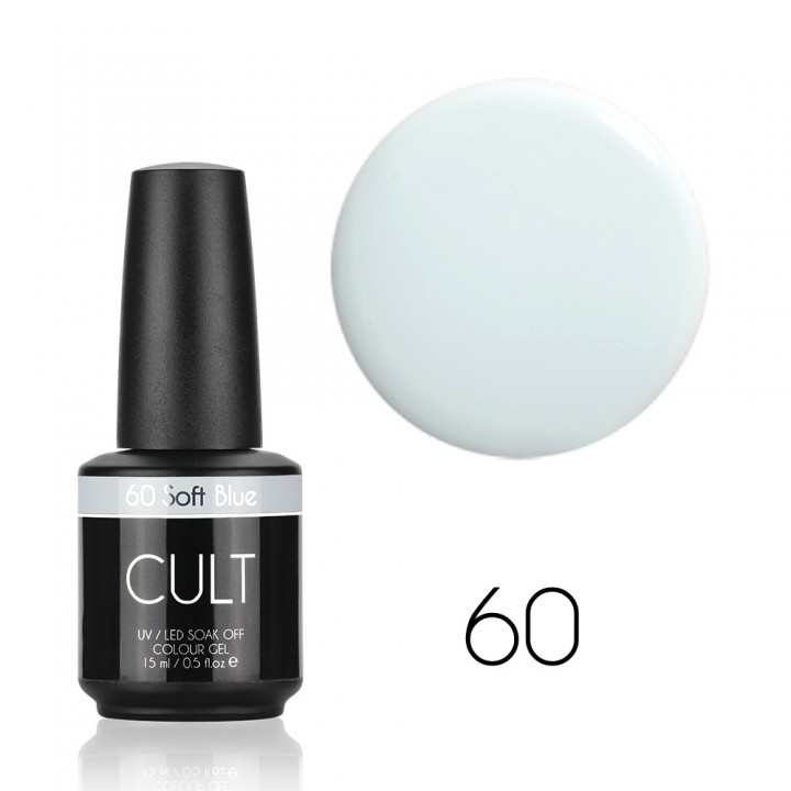 Нежно голубой гель лак для ногтей Cult №60 Soft Blue
