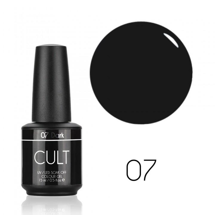 Серо чёрный для ногтей Cult №07 Dark