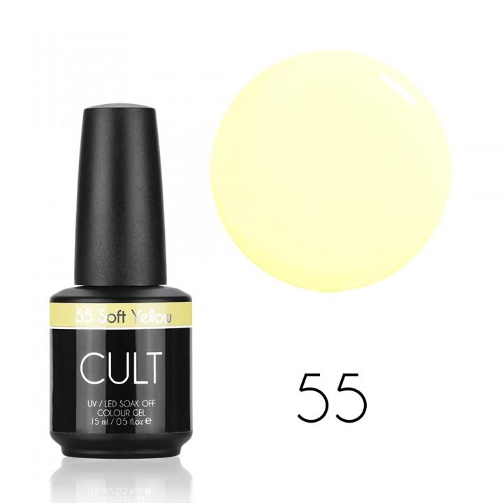 Нежно жёлтый гель лак для ногтей Cult №55 Soft Yellow