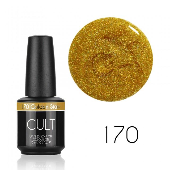 Гель лак для ногтей с золотыми блёстками Cult №170 Golden Stars