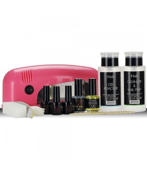 Стартовый набор для гель лака FOR YOU с UV лампой 9 Вт