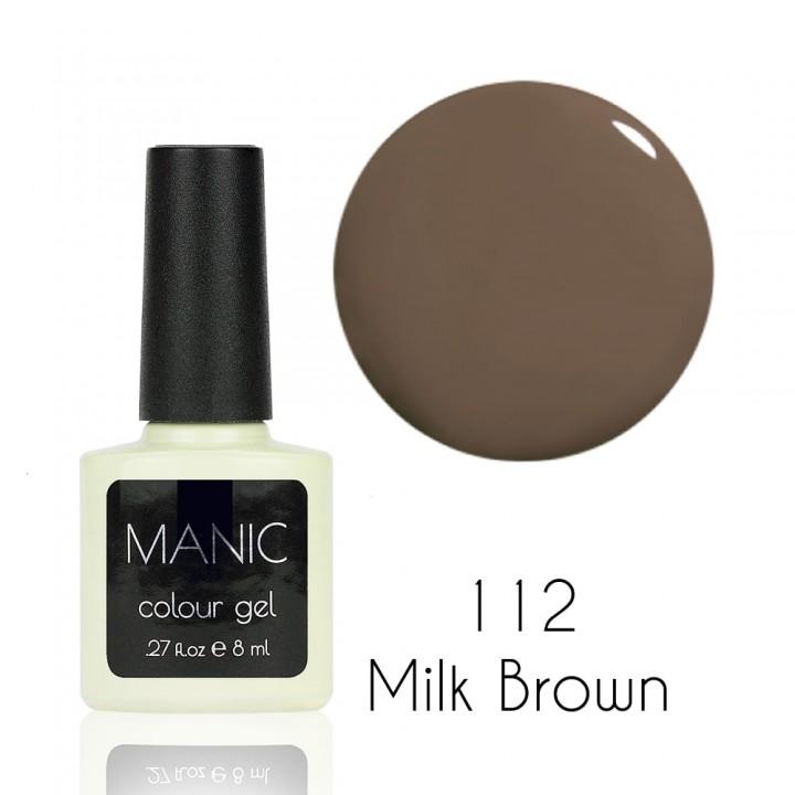 Гель лак для ногтей MANIC №112 Milk Brown