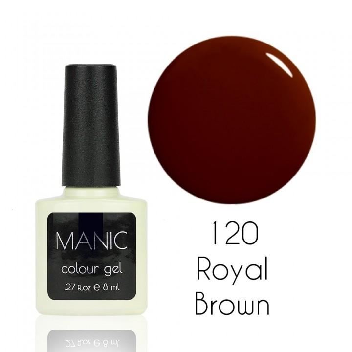 Гель лак для ногтей MANIC №120 Royal Brown