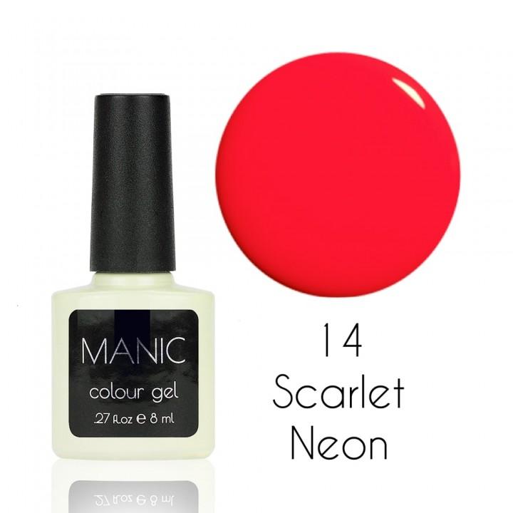 Гель лак для ногтей MANIC №14 Scarlet Neon