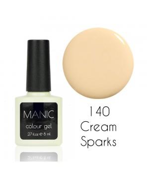 Гель лак MANIC №140 Cream Sparks
