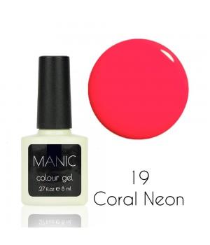 Гель лак MANIC №19 Coral Neon