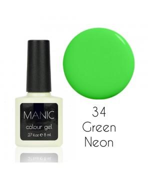Гель лак MANIC №34 Green Neon