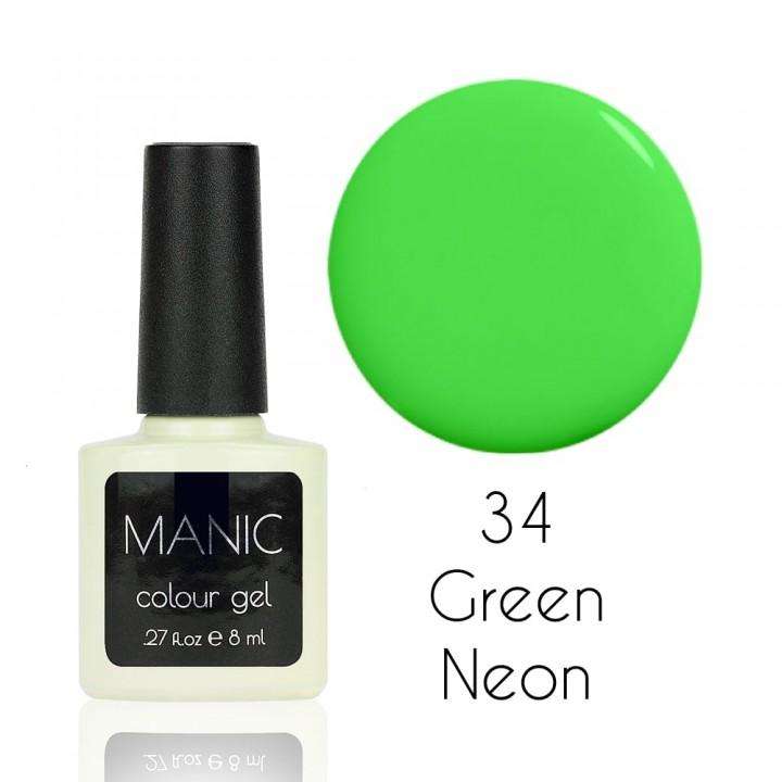 Гель лак для ногтей MANIC №34 Green Neon
