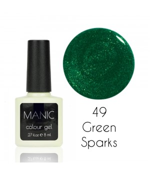 Гель лак MANIC №49 Green Sparks