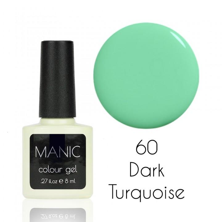 Гель лак для ногтей MANIC №60 Dark Turquoise