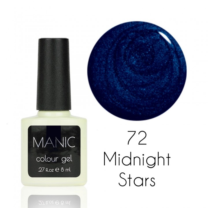 Гель лак для ногтей MANIC №72 Midnight Stars