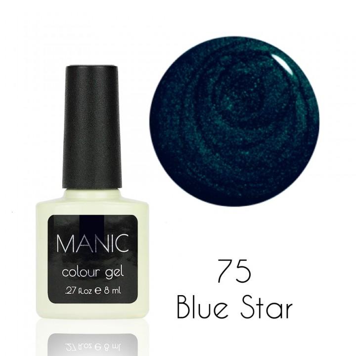 Гель лак для ногтей MANIC №75 Blue Star