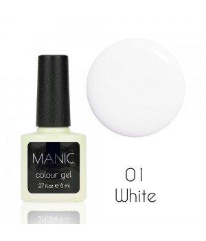 Гель лак MANIC №01 White 8 мл