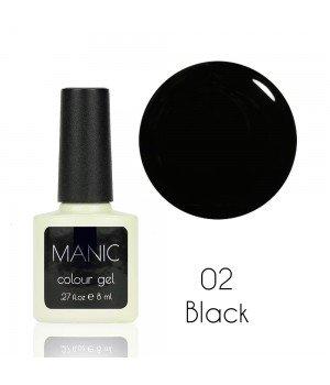 Гель лак MANIC №02 Black 8 мл
