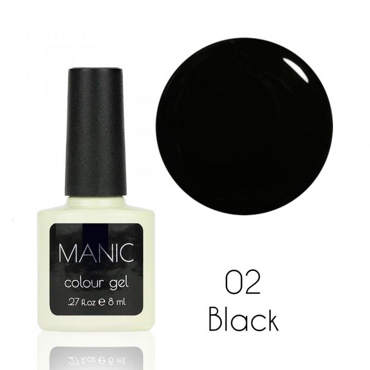 Гель лак для ногтей MANIC №02 Black