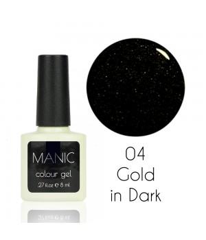 Гель лак MANIC №04 Gold in Dark 8 мл