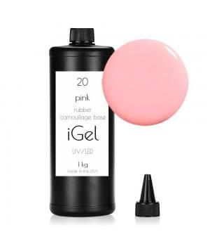 Камуфлирующая база для ногтей iGel Pink №20 -1-kg