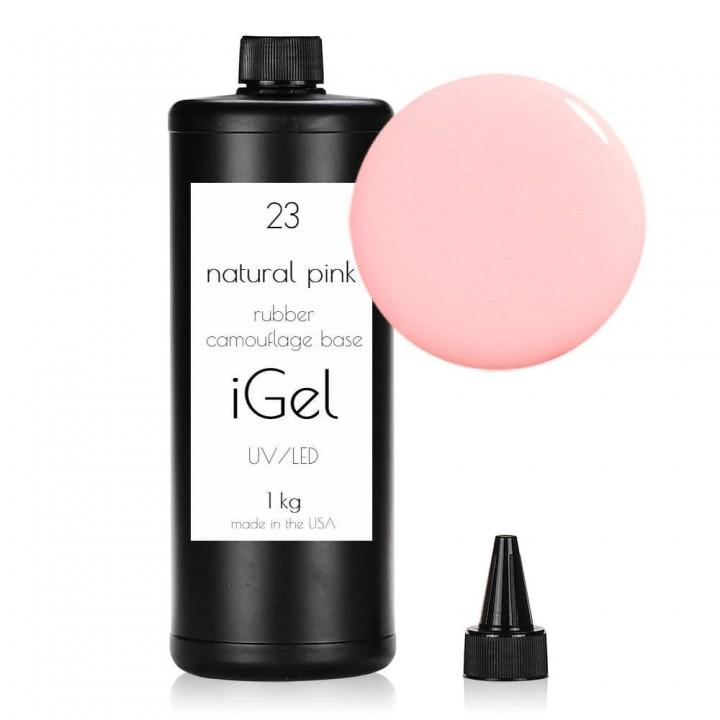 Каучуковая камуфлирующая база для покрытия ногтей iGel Natural Pink №23 1 кг
