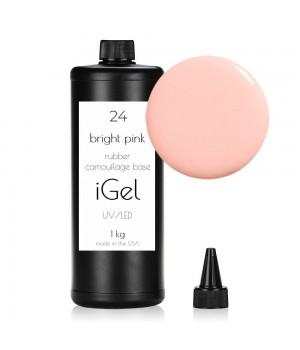 Камуфлирующая база для ногтей iGel Bright Pink №24 1 кг