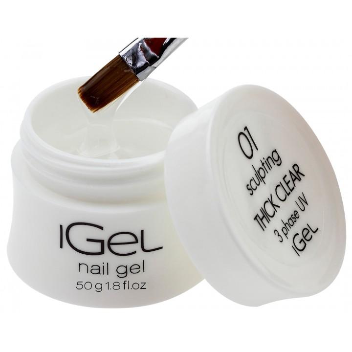 Прозрачный гель для наращивания ногтей iGel Thick Clear №01 50 гр