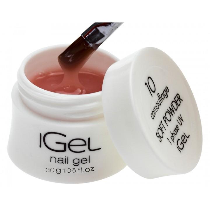 Нежно пудровый гель для наращивания ногтей iGel Soft Powder №10 30 гр