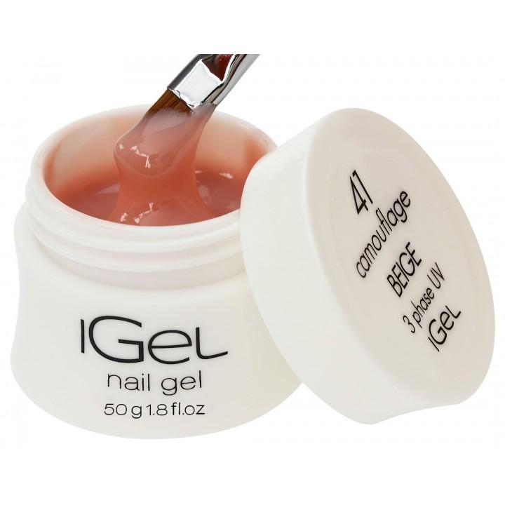 Бежевый гель для наращивания ногтей iGel Beige №41 50 гр