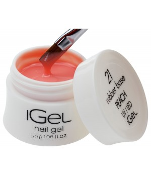 Камуфлирующая база для ногтей iGel Peach №21 30 гр