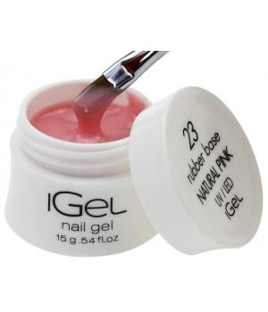 Камуфлирующая база для ногтей iGel Natural Pink №23 15 гр