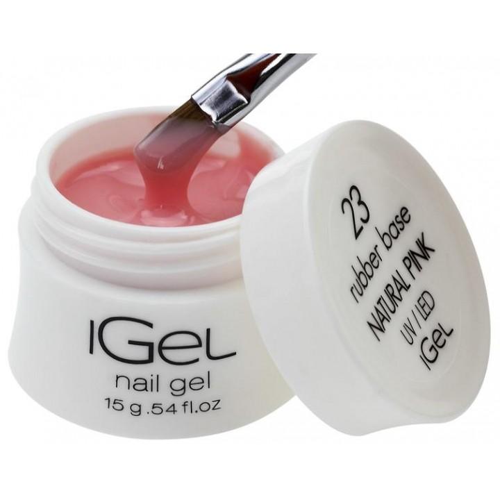 Каучуковая камуфлирующая база для покрытия ногтей iGel Natural Pink №23