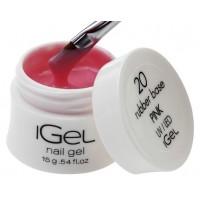 Камуфлирующая база для ногтей iGel Pink №20