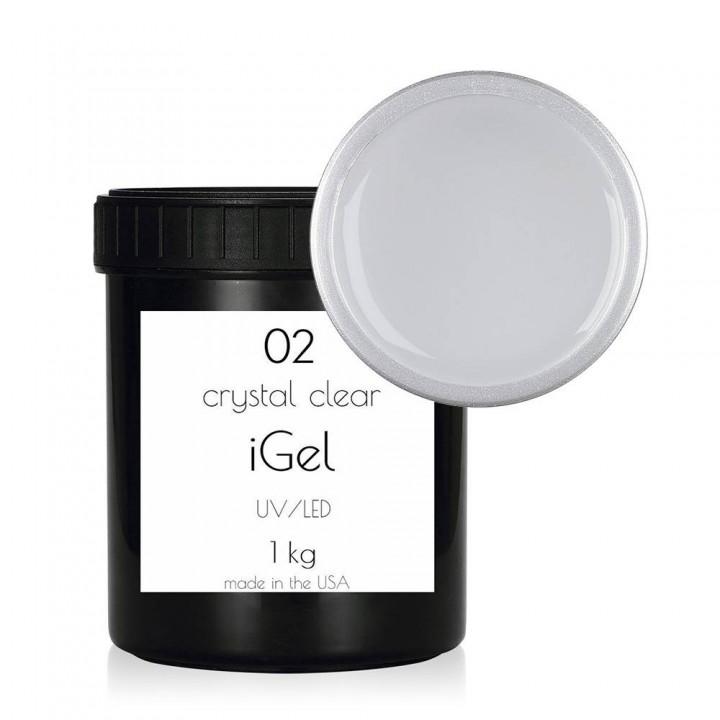 Прозрачный гель для наращивания ногтей iGel Crystal Clear №02 1 кг