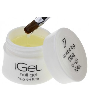 Топ гель iGel No Wipe Top Gel Clear №27 15 гр