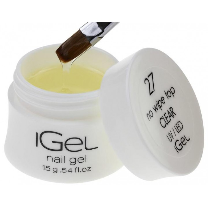 Топ гель iGel No Wipe Top Gel Clear №27