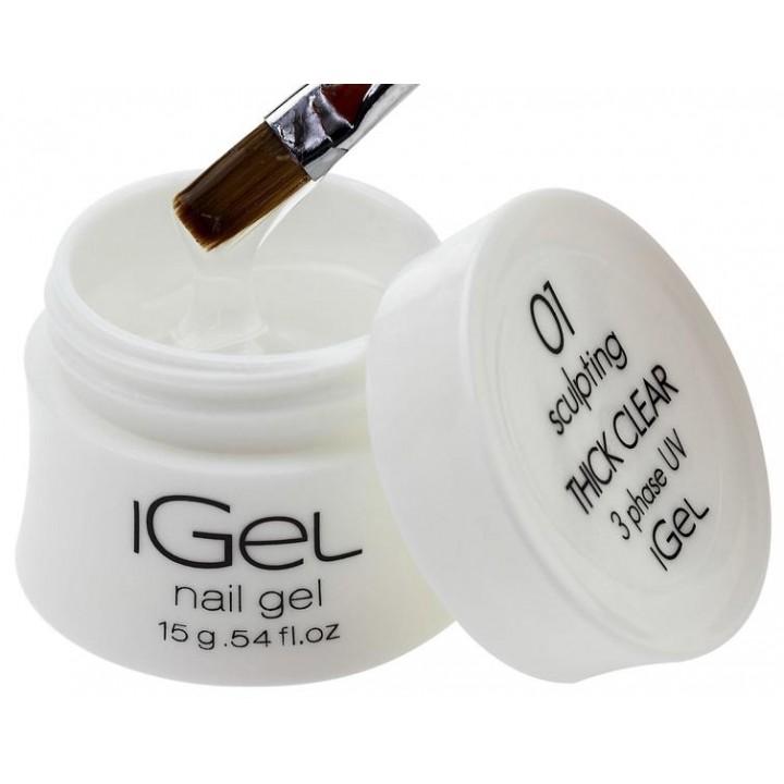 Прозрачный гель для наращивания ногтей iGel Thick Clear №01 15 гр