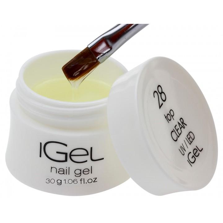 Топ гель с липким слоем iGel Top Gel Clear №28 с липким слоем 30 гр