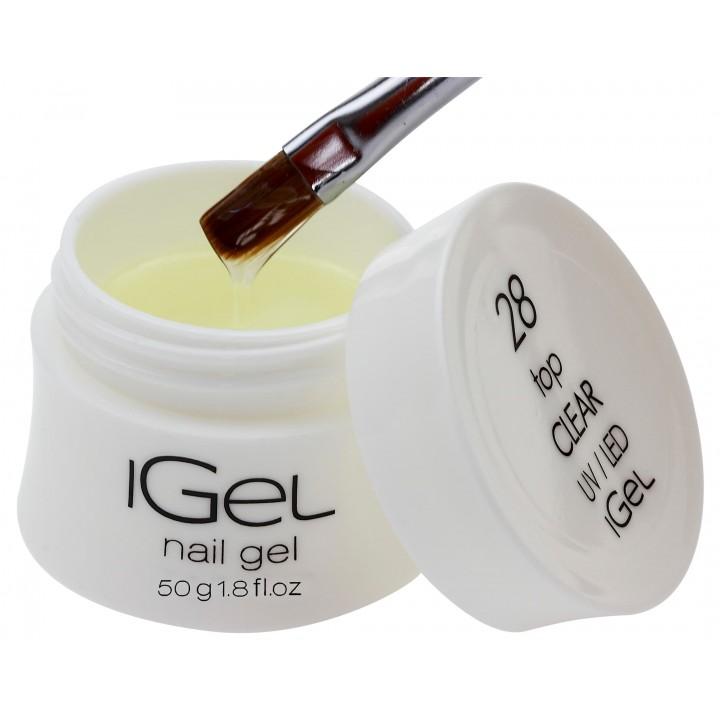 Топ гель с липким слоем iGel Top Gel Clear №28 с липким слоем 50 гр