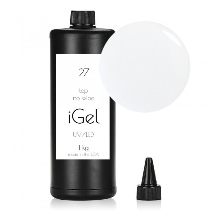 Топ гель без липкого слоя iGel No Wipe Top Gel Clear №27 1 кг