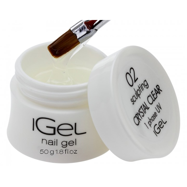 Прозрачный гель для наращивания ногтей iGel Crystal Clear №02 50 гр