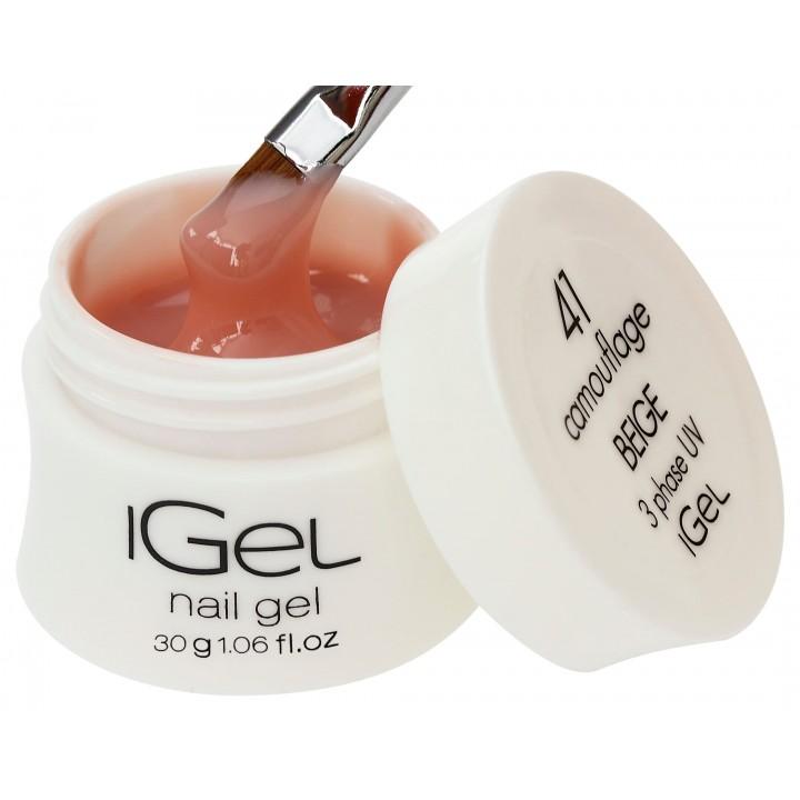 Бежевый гель для наращивания ногтей iGel Beige №41 30 гр