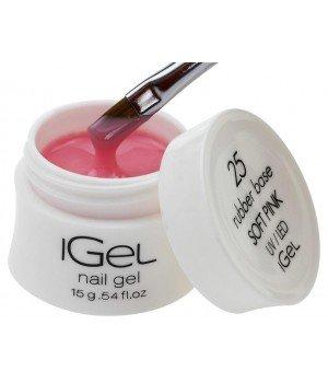 Камуфлирующая база для ногтей iGel Soft Pink №25 15 гр