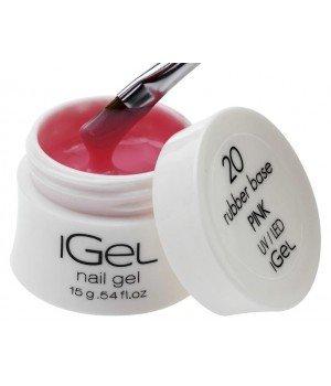 Камуфлирующая база для ногтей iGel Pink №20 15 гр