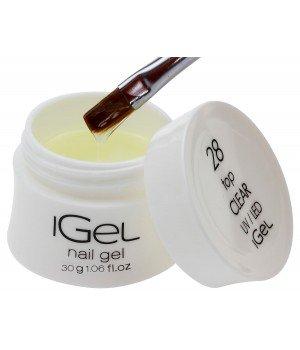Топ гель iGel Top Gel Clear №28 с липким слоем 30 гр