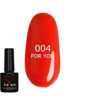 Гель лак Красный Мак FOR YOU № 004