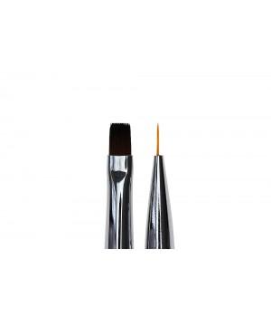 Кисть для дизайна и росписи ногтей Flat #6 / Liner #7