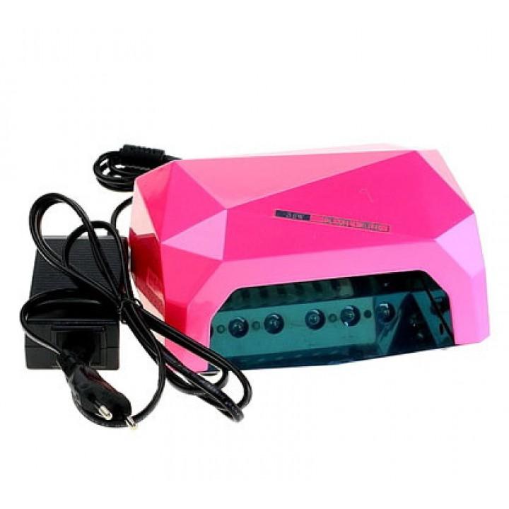 ОРИГИНАЛ! LED+CCFL гибридная лампа 36 Вт (Розовая) с сенсором и таймером для геля, гель лака, шеллака