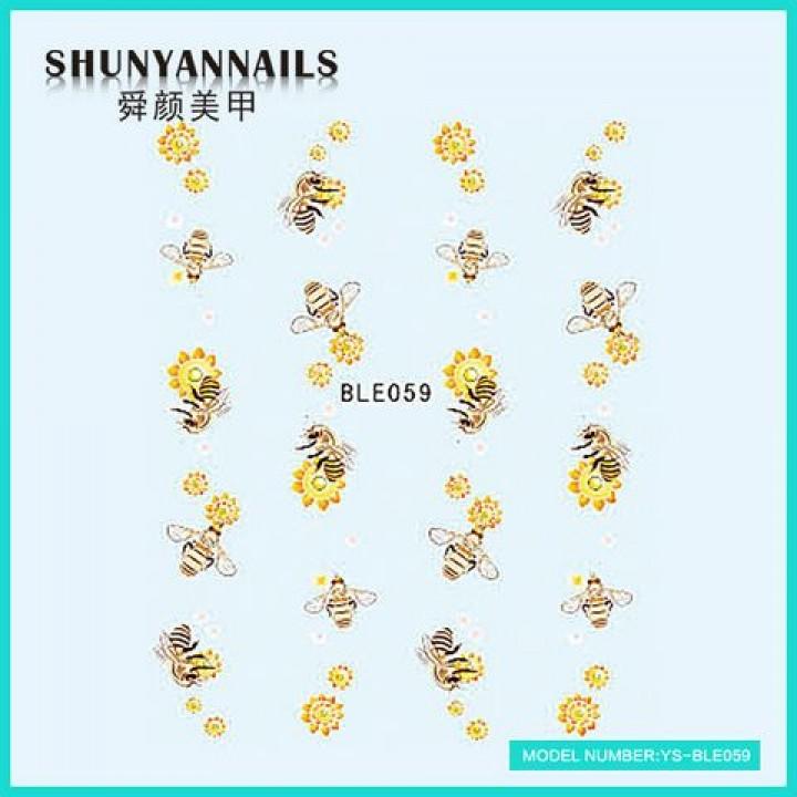 Слайдер дизайн для украшения ногтей Пчелки