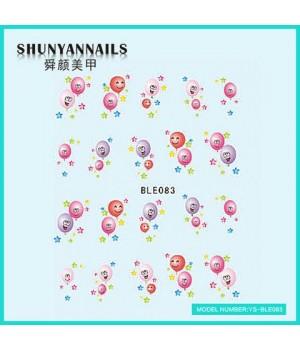 Слайдер дизайн для ногтей Воздушные шарики